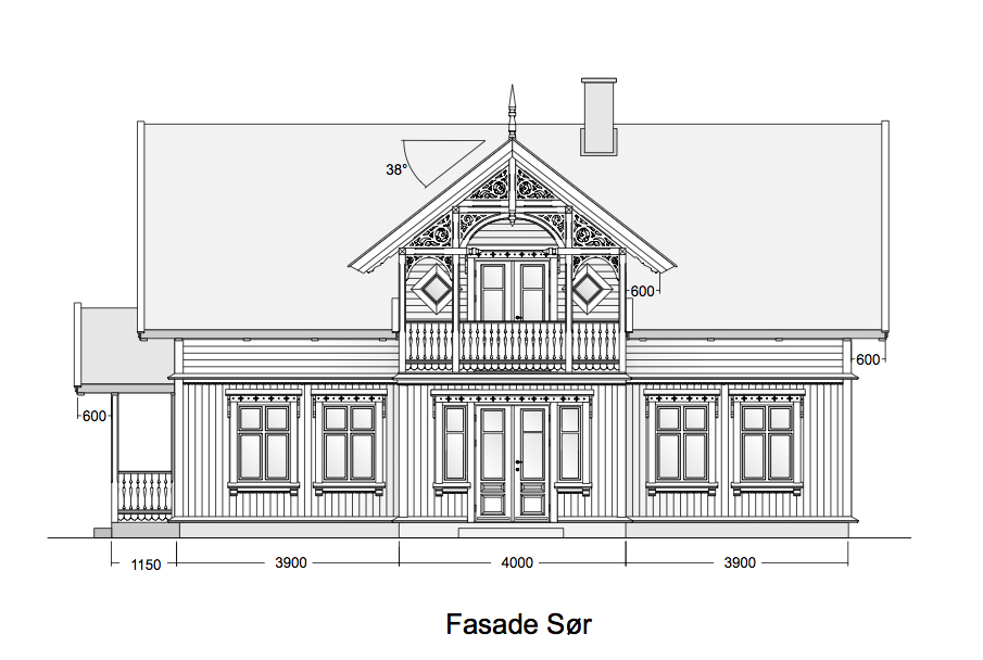 Sveitserhus tegninger