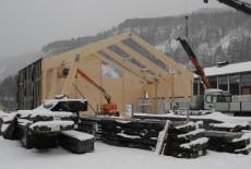 Hallen bygges som en forstørret låve.