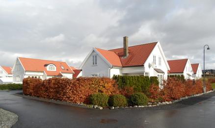 De 13 boligene på Krossnes er oppført av flere lokale byggmestere.