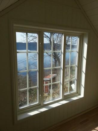 Tangens hytte er ferdig og klar til sommeren. Foto Bygg Team Vest AS.