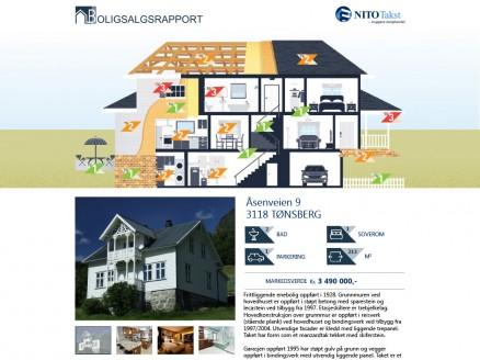 Fra nyttår kan alle gjennomgå en boligs tekniske tilstand i detalj, ved å klikke seg gjennom rapportens interaktive bilder, f eks på Finn. (Illustrasjon NITO Takst).