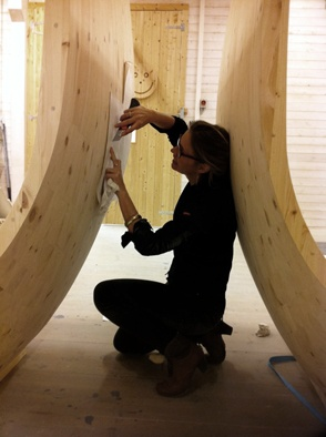 Arkitekten deltar i detaljarbeidet. (Foto Haugen/Zohar Arkitekter).