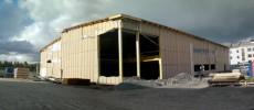 Råbygget er klart etter seks ukers montering. (Foto: Joakim Dørum, Green Advisers) (Klikk for større bilde)