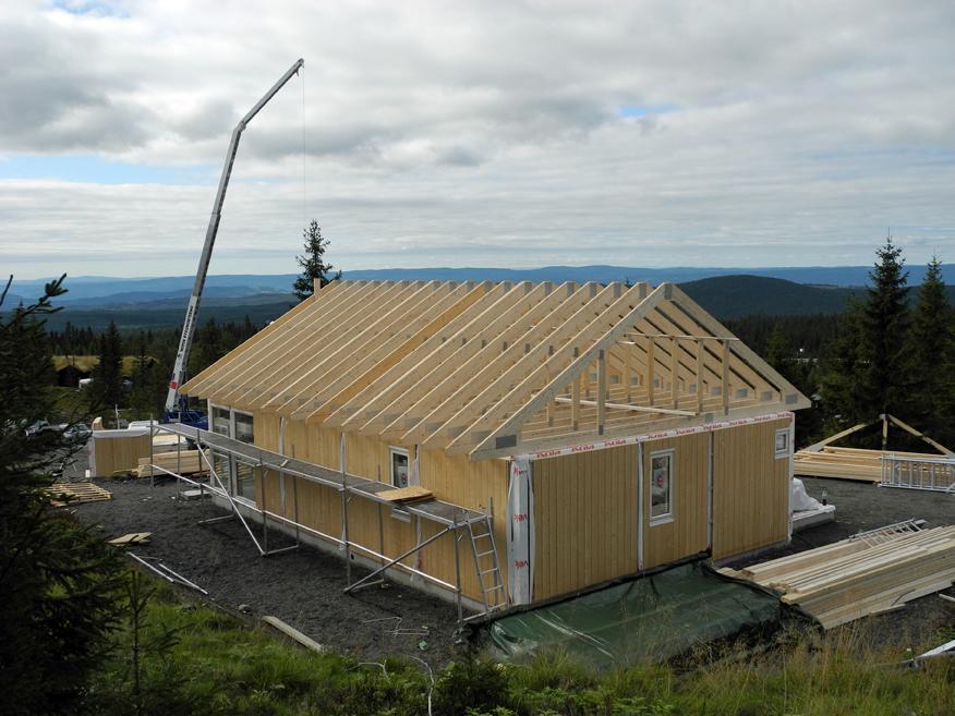 Takkonstruksjon hytte