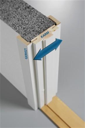 I karmen er det en integrert tetningslist som reduserer lyden ved lukking og mellom rommene.