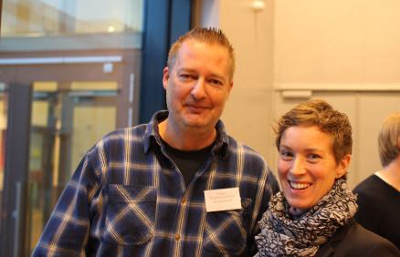 To av komiteens medlemmer er fagkonsulent Øivind Ørnevik i Byggmesterforbundet og seniorforsker Kristine Nore fra Treteknisk. (Foto: Christopher Kunøe)