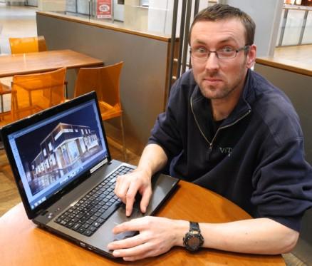 Joakim Dørum i rådgiverfirmaet Green Advisers som har spesialisert seg på trekonstruksjoner i større bygg.