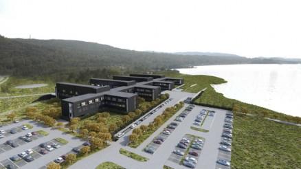 Fremover skal prosjektledelsen arbeide for å bygge et sykehus som oppnår klassifisering som passivhus. (Illustrasjon: Momentum Arkitekter)