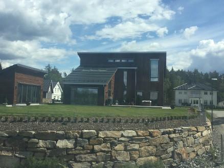 Huset er oppført på Augerød som er et stort tomteområde som eies av Mesterbygg Moss. (Foto: Mesterbygg Moss)