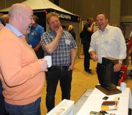 God stemning hos Nordvestvinduet: Kurt Even Lindseth, Jo Ivar Rostad og Arve Martin Almenning.