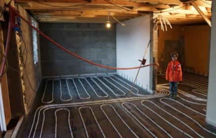 Vannbåren varme var en del av den omfattende oppgraderingen. (Foto: Privat)