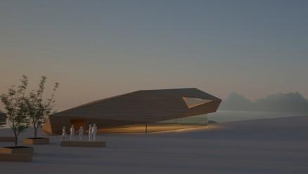 Bodø Havn KF skal eie bygget. (Illustrasjon: Snøhetta)