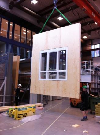Prototype for å oppgradere vinduer i verneverdige bygg. (Foto: NTNU/Cezary Misiopecki)
