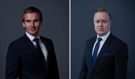Senioradvokat Kittil Bergan (v) og assosiert partner Hans Magnus Røysem i Advokatfirmaet Haavind. (Foto: Advokatfirmaet Haavind)