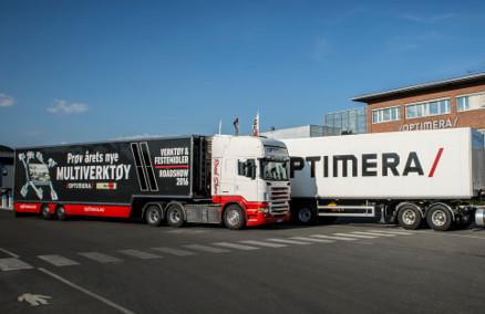 Idag braker det løs på Hamar når Optimera starter turnéen for sitt roadshow. (Foto: Optimera)