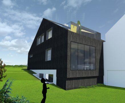 Huset på Årvoll som planlagt. (Illustrasjon: Ratio arkitekter AS)