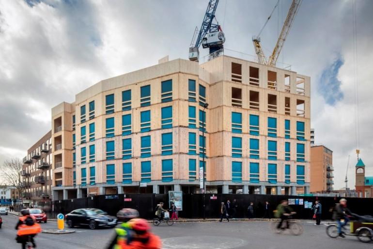 Dette blir verdens største CLT-bygg av denne typen, sier Rambøll. (Foto: Daniel Shearing)