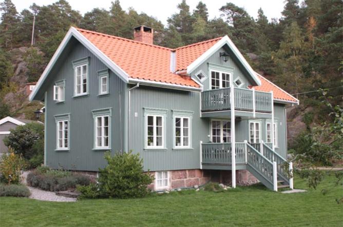 Huset ble bygd i 1911 og restaurert i 2014-2015. (Foto: Wiig)