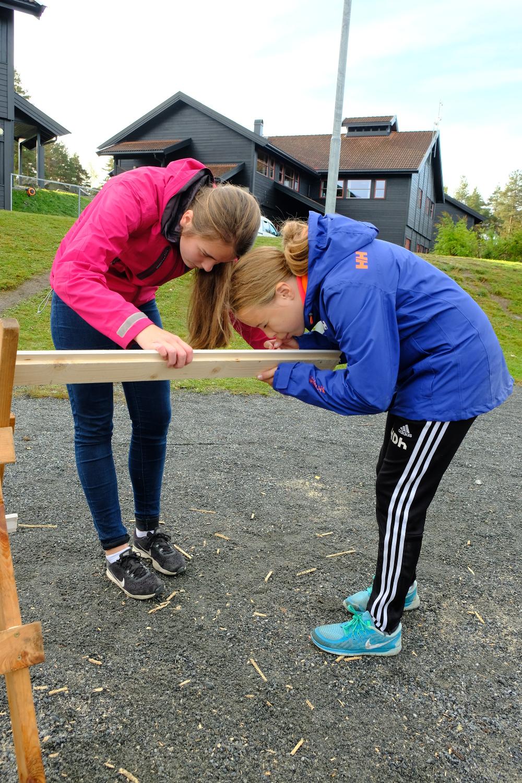 Jentene var minst like engasjerte som guttene - og nøye på målene!