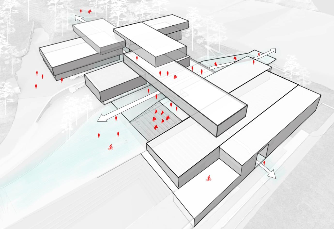 (Illustrasjon: 3D illustratør: Archivisuals, Arkitekt: LINK arkitektur Landskap: Snøhetta)