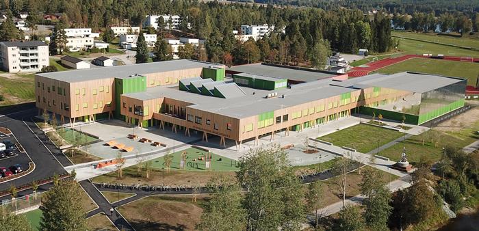 81208d45f Skole, butikk og blokk nominert til årets trebygg - Byggmesteren